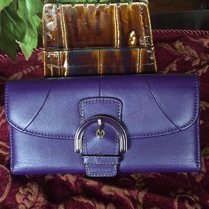 Coach Soho Flap Leather Wallet